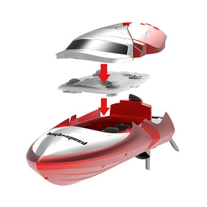 Coupcou.com: TKKJ H106 2.4G High Speed RC Boat 7.4V 600mAh Battery / LCD Display  Remote Controller