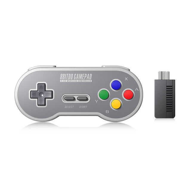 Coupcou.com: 8Bitdo SF30 Wireless Controller with 2.4G NES Receiver Classic Joystick Gamepad for Switch Android PC Mac