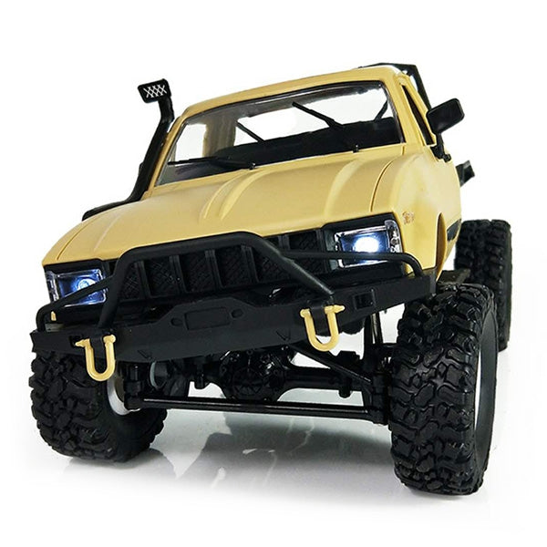 Coupcou.com: WPL C14 1:16 2.4G 2CH 4WD Mini Off-road RC Semi-truck with Metal Chassis / TPR Tires / 15km/h Top Speed