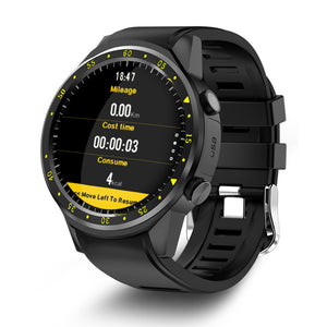 Coupcou.com: TenFifteen F1 Sports Smartwatch Phone 1.3 inch MTK2503 Dual Bluetooth GPS Beidou Camera Heart Rate / Sleep Monitor