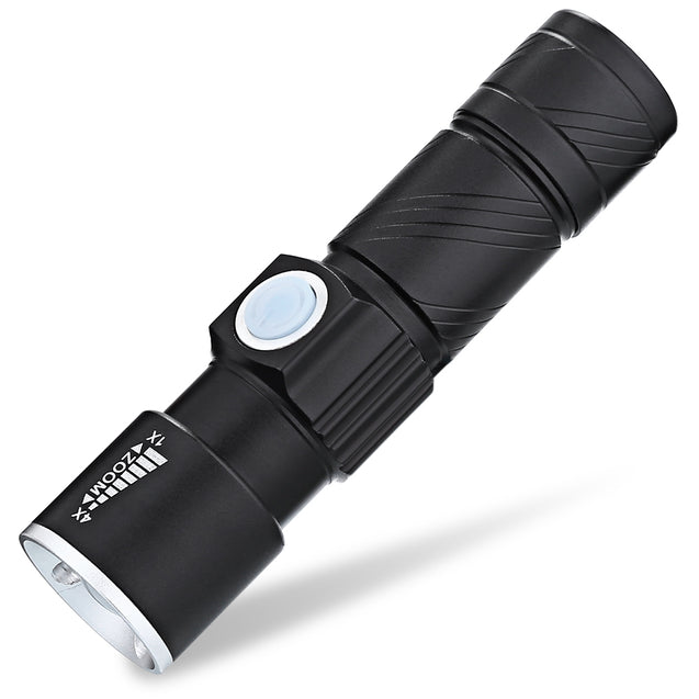 Coupcou.com: 2PCS TG - C8 XR - Q5 Ultra Bright LED Mini Flashlights with Adjustable Focus and 3 Light Modes for Camping Hiking Emergency