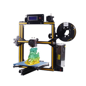 Coupcou.com: ZONESTAR Z5M2 Aluminum Frame Dual Extruder Mixing Color 3D Printer DIY Kit 220mm x 220mm x 220mm