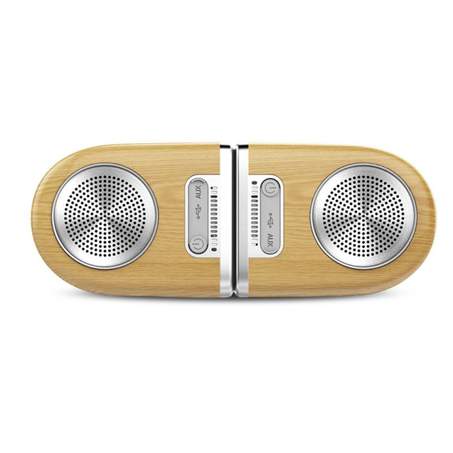 Coupcou.com: OVEVO D10 Bluetooth Speaker V4.2 Subwoofer Wireless Magnetic Outdoor Waterproof Wood Color