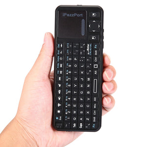 Coupcou.com: iPazzPort KP - 810 - 10BTTL Mini Wireless Bluetooth QWERTY Keyboard with Backlight