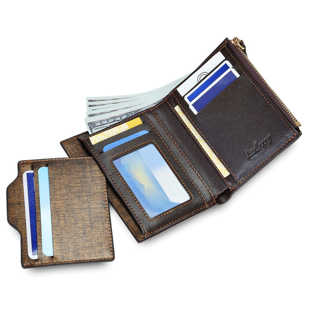 Coupcou.com: baellerry Fashionable Men Business Wallet with Detachable Card Photo Holder