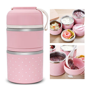 Coupcou.com: Worthbuy Thermal Lunch Box Stainless Steel Food Container