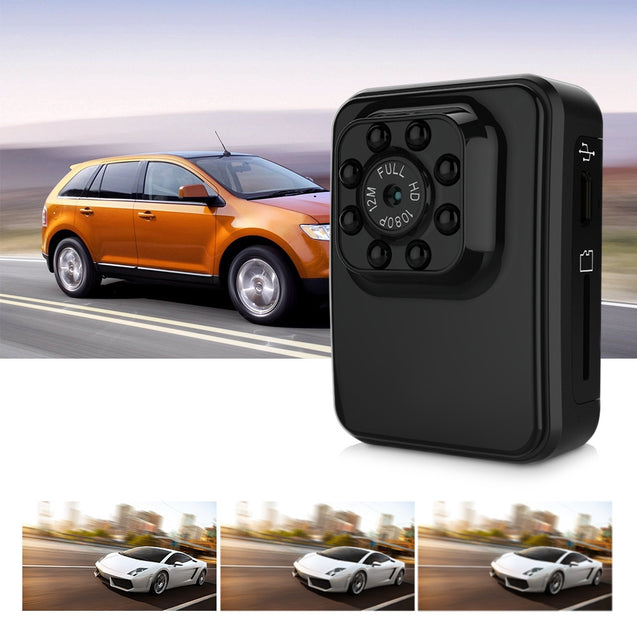 Coupcou.com: R3 Mini Full HD DV Camera 1080P Night Vision Motion Detection for Driving Recorder Outdoor Sports Home Security