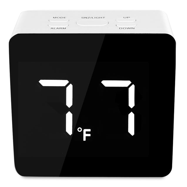 Coupcou.com: TS - S69 LED Time / Temperature Display Mirror Clock