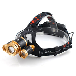 Coupcou.com: YWXLight 30W LED Headlamp Waterproof Helmet Light for Camping Hiking Outdoor Sports