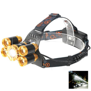Coupcou.com: YWXLight 40W Super Bright Rechargeable Zoomable Waterproof Head Torch for Outdoor Hiking