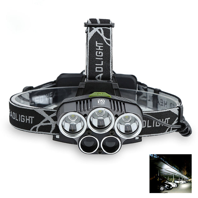 Coupcou.com: YWXLight LED Headlamp 5000 Lumen Brightness 5 Light Waterproof  for Camping Travel Walking