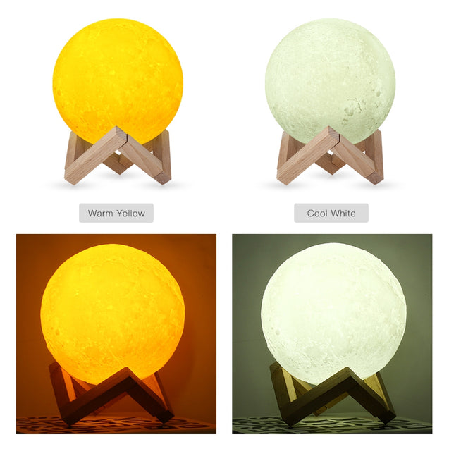 Coupcou.com: F - 06 3D Printing Moon Lamp for Lighting and Decor