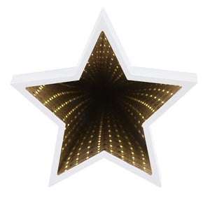 Coupcou.com: Creative Star Shaped Infinity Mirror Light LED Tunnel Lamp