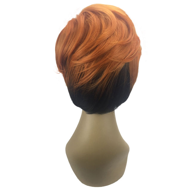 Coupcou.com: Short Side Parting Layered Slightly Curly Bob Synthetic Wig