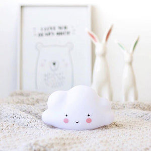 Coupcou.com: Cloud Smile Face LED Night Light Baby Bedroom Decor Lamps Sleeping Lighting Children Gifts Toys