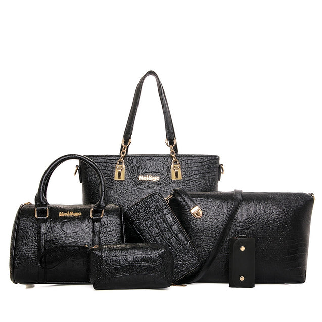 Coupcou.com: Six Woolly Fashionable Mother Crocodile Grain Water Bucket Package Bag