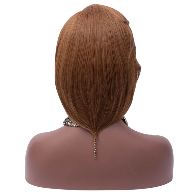 Coupcou.com: Medium Side Part Straight Feathered Bob Synthetic Wig