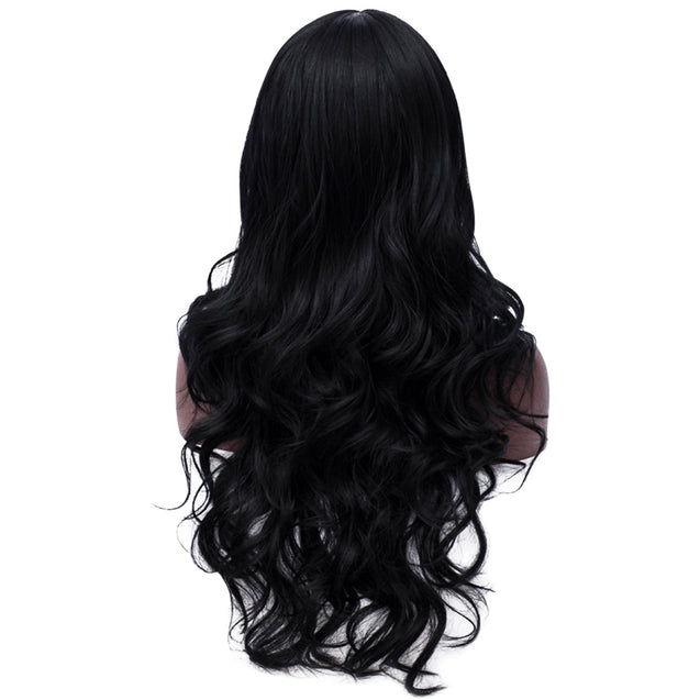 Coupcou.com: Synthetic Curly Long Middle Part Wig Women Party Salon Hair