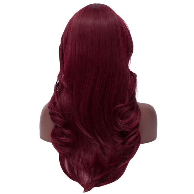 Coupcou.com: Long Side Bang Feathered Straight Synthetic Wig
