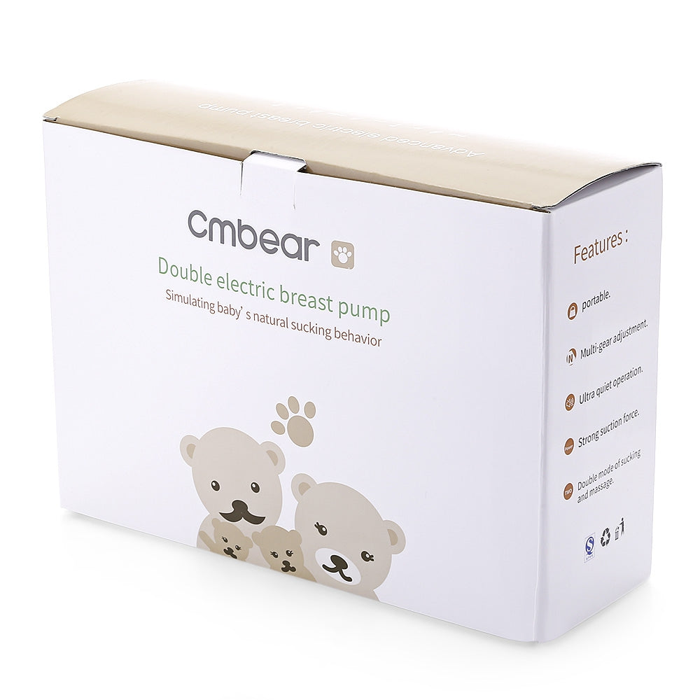 Cmbear ZRX - 0618 BPA Free USB Double Electric Breast Pump