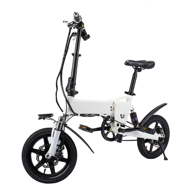 Coupcou.com: KV1420 Smart Folding Bike Electric Moped Bicycle 5.2Ah Battery / EU Plug / with Double Disc Brakes