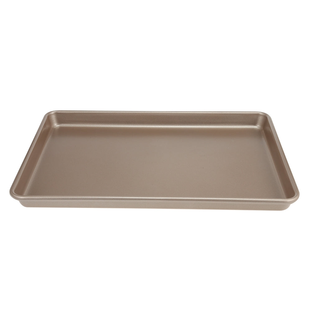 Carbon Steel Non-stick Baking Tray for Biscuit Cookie CakeCAMEL BROWN