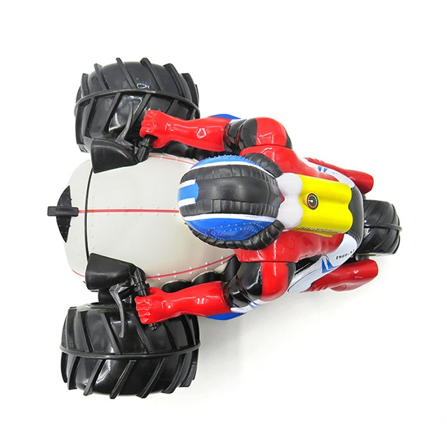 Coupcou.com: Flytec 989 - 333 Amphibious 4WD Stunt RC Motorcycle Toy for Children