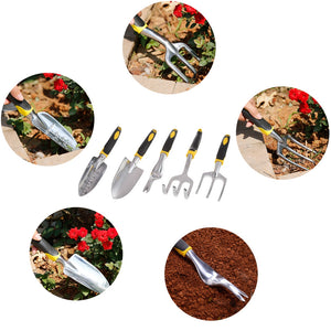 Coupcou.com: Outdoor Gardening Tool Potted Shovel Rake 5PCS