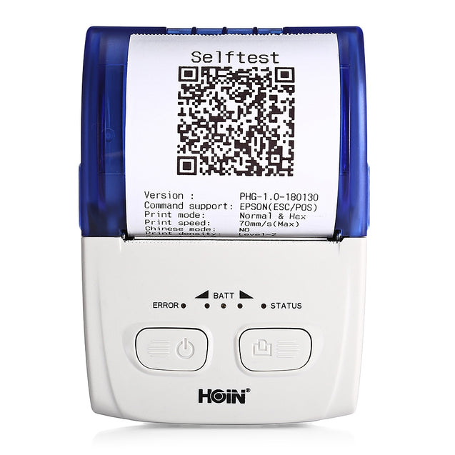 HOIN HOP - H200 Portable Thermal Printer USB Bluetooth Mobile Receipt  Ticket Printing Rechargeab