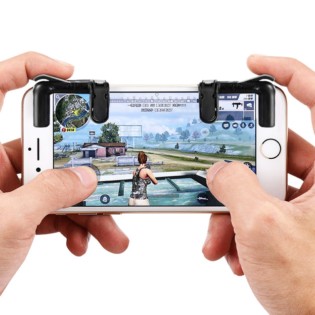 Coupcou.com: gocomma Pair of Mobile Game Controllers Sensitive Shoot and Aim Buttons for PUBG / Rules of Survival / Knives Out Phone Game Joystick
