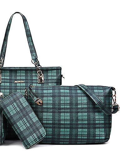 Coupcou.com: 5 Pieces Plaid Pattern Bags