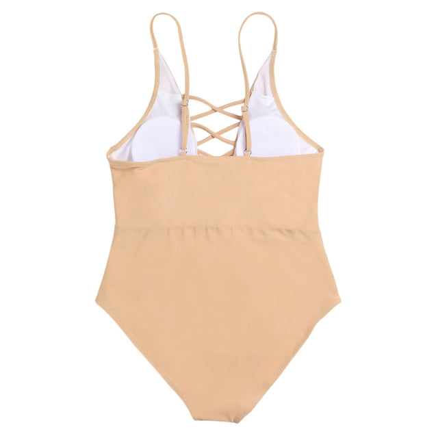 Coupcou.com: Sexy Spaghetti Strap Criss Cross Hollow Out Pad Backless Swimsuit for Women