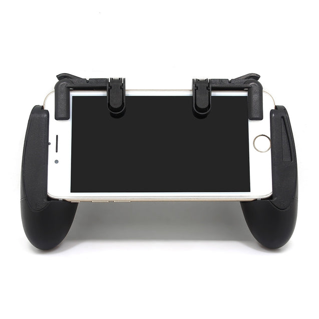 Coupcou.com: Smartphone L1R1 Trigger with Mobile Game Handle Grip Controller Physical Aim Buttons Joysticks for PUBG