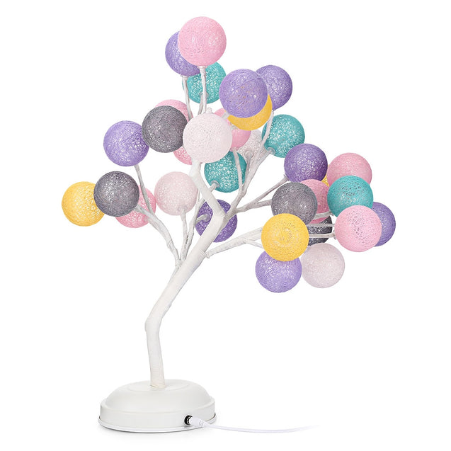 Coupcou.com: DCHDC Woven Ball Tree Branches Night Light Indoor Decoration