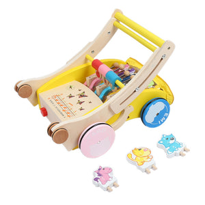 Coupcou.com: Wooden Walker Hand Push Toy for Toddler