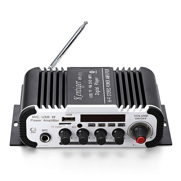 Coupcou.com: Kentiger HY - V11 Bluetooth Amplifier 2-channel Audio Support TF USB FM