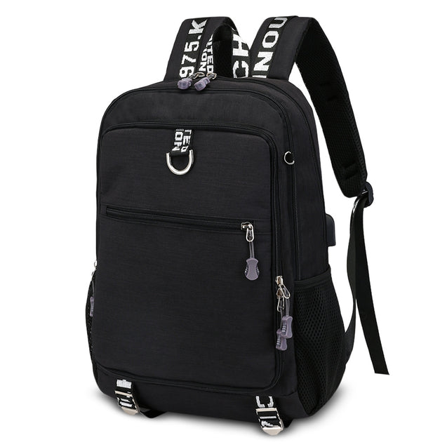 Coupcou.com: Guapabien Large Capacity Men's Travel Laptop Backpack with USB Charging Port