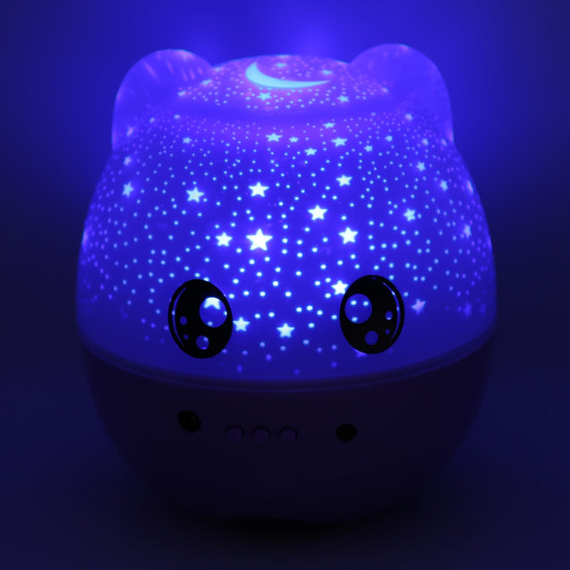 Coupcou.com: 3-in-1 Cartoon Speaker Projector Lamp Changeable Light Colors 5pcs LED Beads