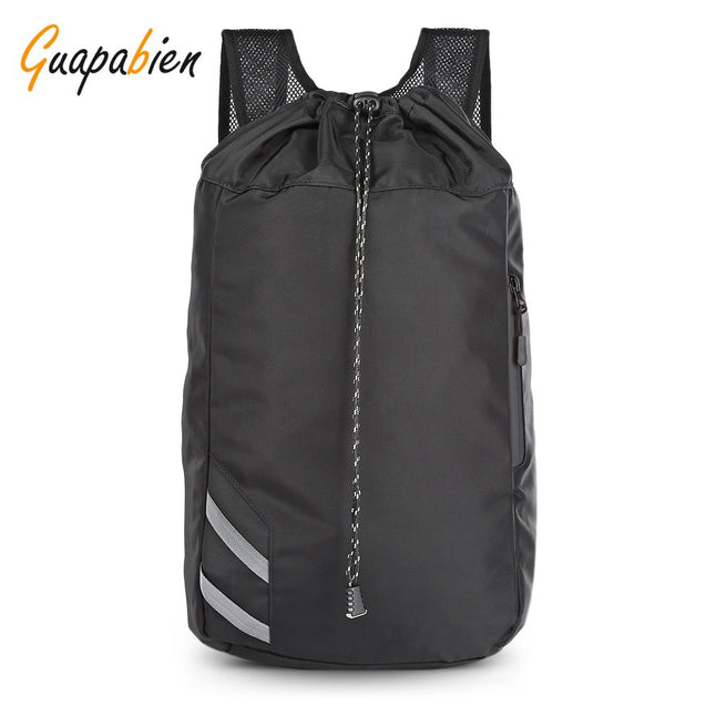 Coupcou.com: Guapabien Unisex Drawstring Bag Large Capacity Basketball Sports Backpack