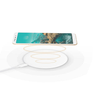 Coupcou.com: Xiaomi Portable Fast Wireless Charging Pad Type-C 2 Charging Modes Silicone 7.5W
