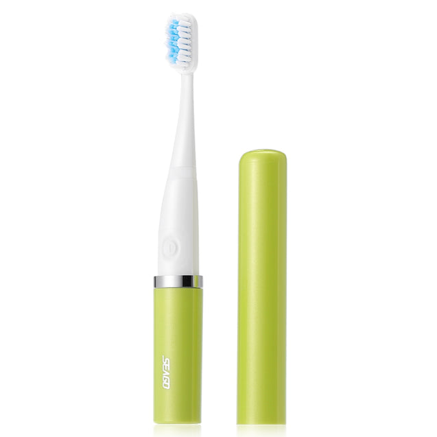 Coupcou.com: SEAGO SG - 632 Waterproof Sonic Electric Toothbrush with 2 Brush Heads