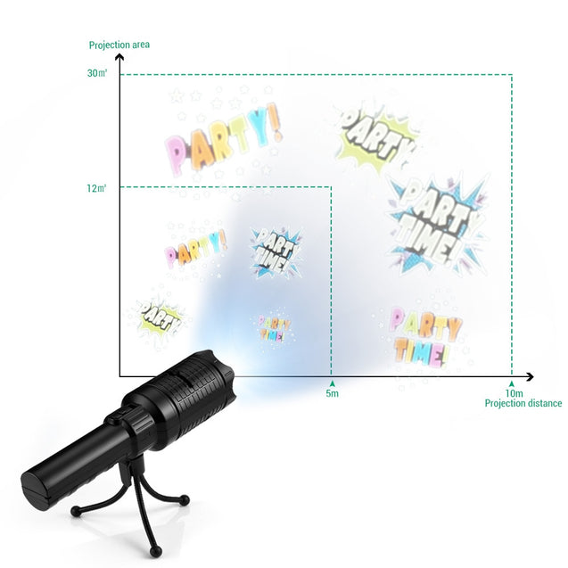 Coupcou.com: SE679 Projector Flashlight LED Christmas Halloween Birthday Party Light Lamp