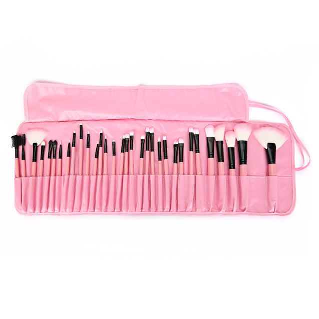 Coupcou.com: Chic 32 Pcs Makeup Brush Set Cosmetic Tools with Faux Leather Pure Color Bag