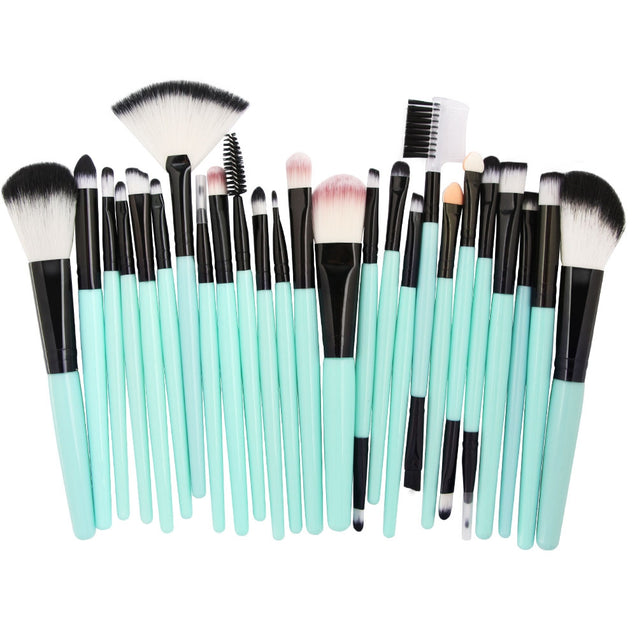 Coupcou.com: 25pcs Makeup Brushes Foundation Power Blush Eye Shadow Eyebrow Lip Beauty Tool