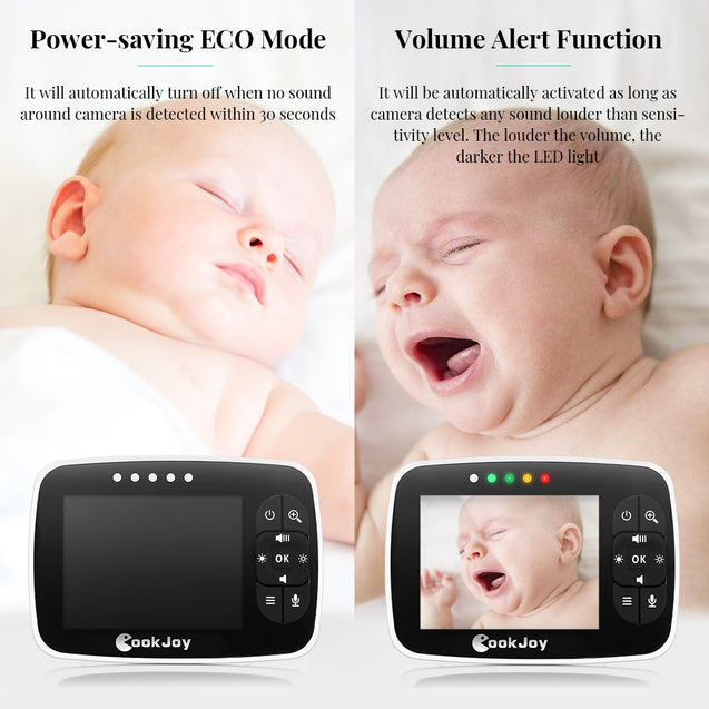 Coupcou.com: COOKJOY SM35RX 2.4GHz Video Baby Monitor with 3.5 inch LCD Screen