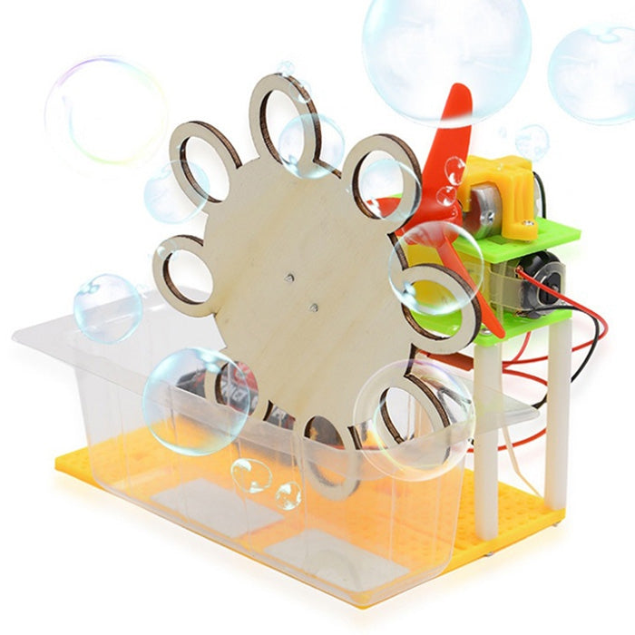 DIY Assembled Electric Bubble Toy Science Invention for KidsLIGHT KHAKI
