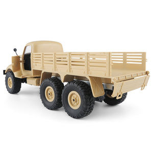 Coupcou.com: JJRC Q60 6WD RC Off-road Car Military Truck Inclined Plane Differential / Shock Absorbers / Speed Conversion