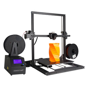 Coupcou.com: ZONESTAR Z10M2  Mixed Color Fast Assemble Large Size Dual Extruder 3d Pritner