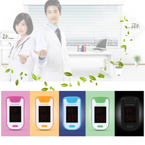 Coupcou.com: Digital Health Care Finger LED Pulse Oximeter SPO2 PR Fingertip Monitor Portable Blood Oxygen