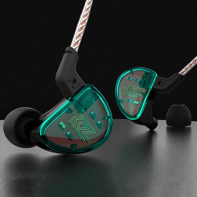 Coupcou.com: KZ AS10 5BA HiFi Stereo In-ear Earphone High Resolution Earbuds with 0.75mm 2 Pin Cable Five Balanced Armature Driver